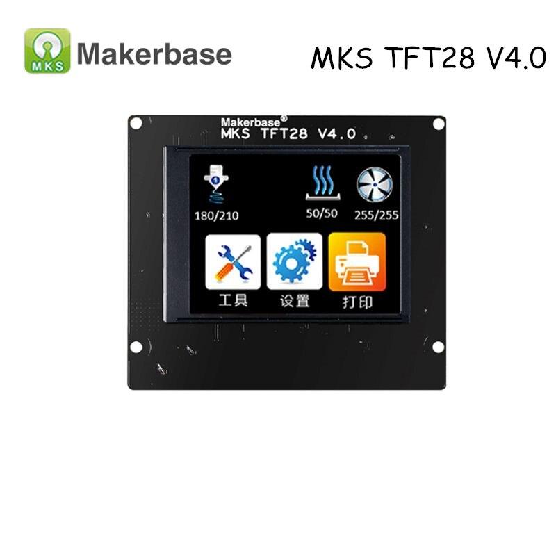 Peças de impressora 3d controlador display mks tft28 v4.0 2.8 Polegada tft touch screen suporte/wifi/app/interrupção/linguagem para mks sbase