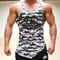 Top Homens Tanque de Fitness Camuflagem Do Exército Do Camo Mens Bodybuilding Regatas Singlet Stringers Roupas de Marca Camisa Sem Mangas