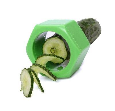 Espiral máquina de Cortar el Pepino Pepino Sacapuntas Utensilios de Cocina Color