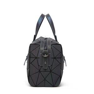 Image 5 - 2019 Fashion Zipper Bao Taschen Frauen Leucht sac Tasche Tote Weibliche Geometrie Schulter Taschen Saser Einfachen Klapp Handtaschen Tasche Bolasa