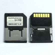 ¡Promoción! 10 unids/lote 7PIN 32MB 64MB MMC tarjeta Multimedia móvil RS MMC tarjeta de memoria