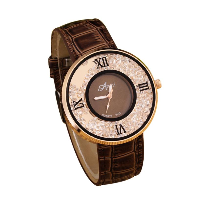 Quartz Wristwatches Diamond Fa...