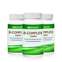 Горячее предложение 3 бутылки витамин В комплекс высокопрочный все 9 витамины B биотин и B12 B комплекс