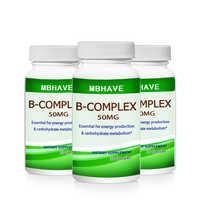 HOT DEAL 2019 3 bouteilles complexe de vitamine B haute résistance toutes les 9 vitamines B biotine & B12 B complexe