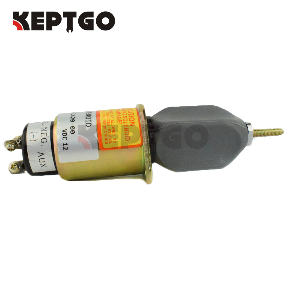 Generator Stop Solenoid 307-2820 0307-2820-00 3072820 12v For Cummins