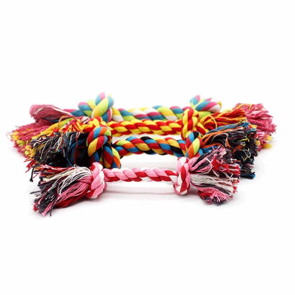 Podwójny węzeł pies bawełniana pościel liny Pet Dog Puppy zabawki zębów dentystycznych zabawki do żucia lina pleciona grać szkolenia zabawy grając zabawki