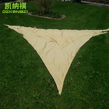 3.5 x 3.5 x 3.5 M/pcs Customized Triangular Shade Sail Combination Waterproof PU Polyester fabrics used for pool sun shade