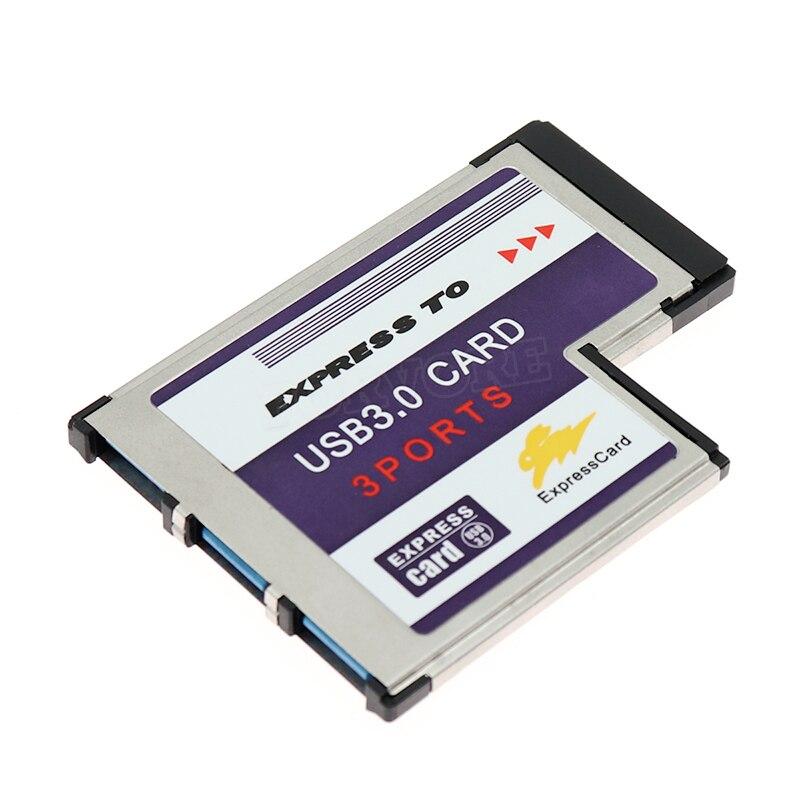 Usb expresscard cartão de expansão 3 portas usb 3.0 expresscard 34 54 mm expansão expresscard para usb adaptador usb express cartão co
