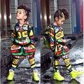 Los niños de la India Maya Totem Print Salón de Baile Jazz Hip Hop Danza concurso Conjunto Traje para Niñas niños Ropa Con Capucha Tops Harem pantalones