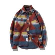 eb23cea2a5 De camisas para hombres de lana Vintage de patrón de vestido de camisa  Casual de los hombres Plus tamaño Hipster Chemise Homme f.