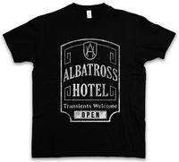 アルバトロスホテルtシャツ遊歩道nuckyトンプソン帝国都市サインロゴモーテル