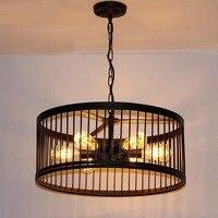 Nordic black iron pendant lamps metal lamp Balcony lamp iron industrial air restaurant bar pendant light ZA111034