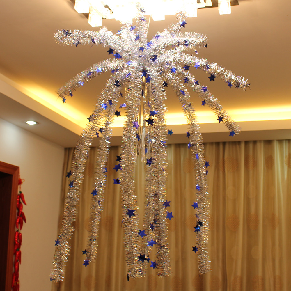 Indoor christmas hanging garland decorate falling flowers for Ceiling hanging decorations ideas