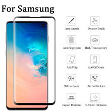 GerTong Full Curved Tempered Glass On For Samsung Galaxy S10E S10e Screen Protector S 10e Protective