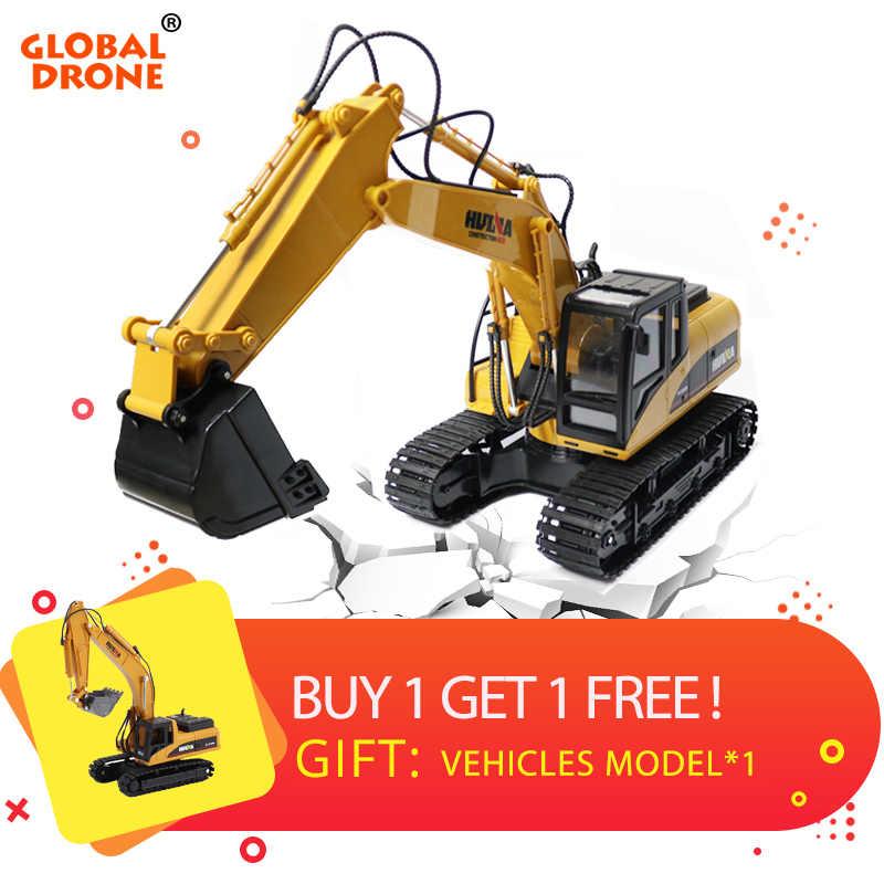 1350 с дистанционным управлением huina дистанционное управление гидравлического экскаватора игрушки грузовик металлический гидравлический rc игрушка для мальчиков rc грузовики