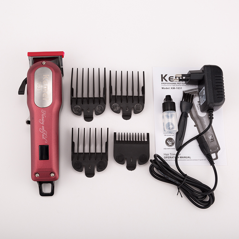 Dog Grooming Capable 110v-240v Kemei Dog Clipper Pet Grooming Kit Hair Trimmer Rechargeable Haircut Men Electric Shaver Animal Hair Cutting Machine