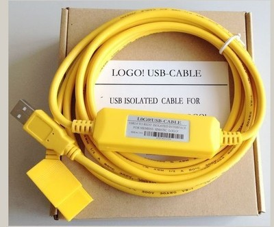 Isolated USB-LOGO Programming Adapter Cable for Siemens LOGO! PLC 6ED1 057-1AA01-0BA0, Support Win7, FAST SHIPPING цена