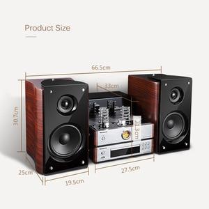 Image 5 - Altavoz combinado con Bluetooth, potencia de salida de altavoz, amplificador de tubo electrónico de 60W, sistema de estéreo HIFI de estantería, columna de reproductor de CD y DVD