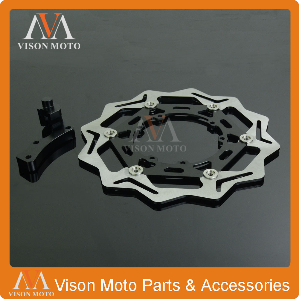 270MM Floating Brake Discs+Bracket For HONDA CRF CR125 CR250 CRF250R CRF250X CRF450X CRF450R CRF250 CRF450 Dirt Bike Motocross 270mm front brake disc rotor for cr 125 250 500 crf 250r 250x 450x 450r 230f motocross supermoto enduro dirt bike off road
