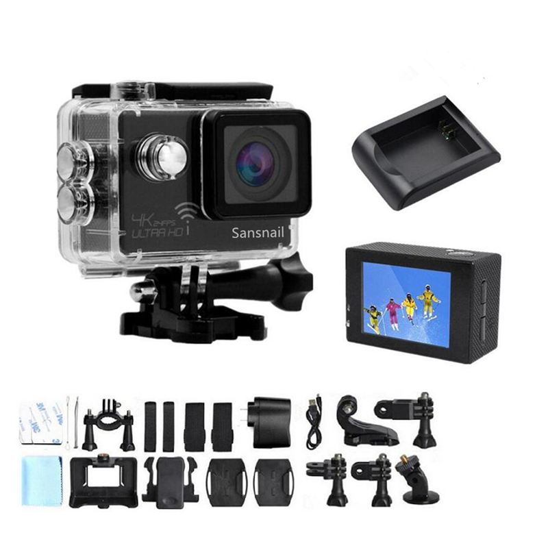 Caméra sanescargot 4 K Ultra HD Novatek 96660 caméra d'action WiFi 2.0 ''LCD sport caméscope caméra 30 caméra d'action étanche