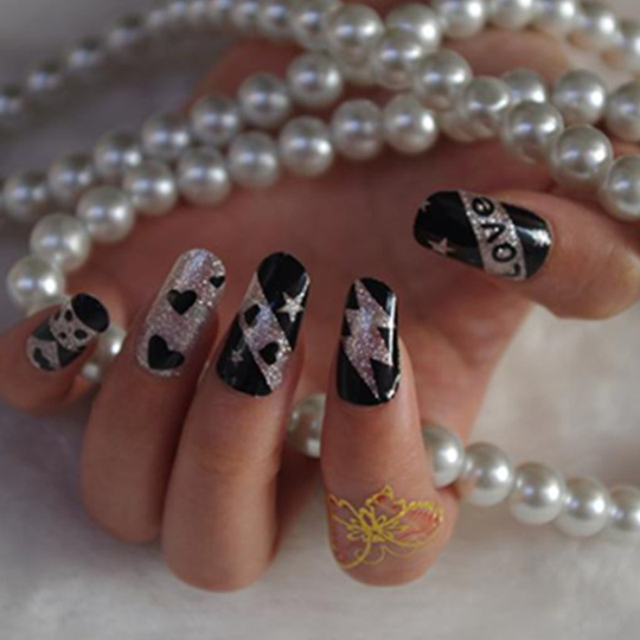 Outstanding Kiss Nail Art Stickers Crest - Nail Paint Design Ideas ...