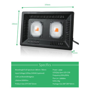 Image 4 - BUYBAY Full Spectrum LED Grow Light Waterproof IP67 100W 200W 300W COB Growth Flood Light for Plant Indoor Hydroponic Greenhouse