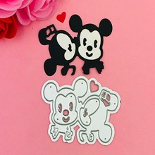 ФОТО mickey minnie bow ear cutting dies love heart  toy doll scrapbook card paper craft home decoration embossing stencil cutter