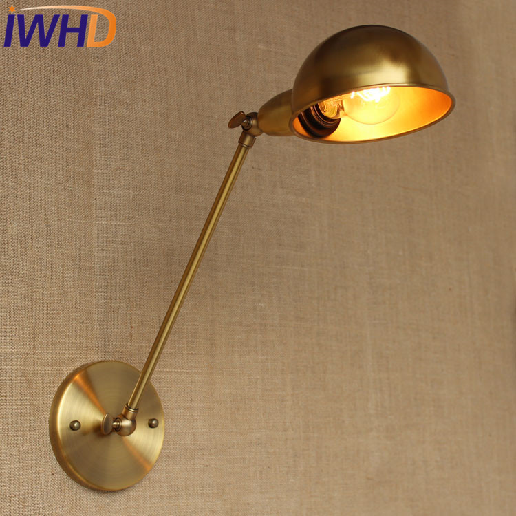 IWHD Loft Style Industiral Wall Lamp Vintage Home Lighting Long Arm Wall Light LED Sconce Edison Arandela Lamparas De Pared 60w style loft industrial vintage wall lamp fixtures home lighting edison wall sconce arandela lamparas de pared