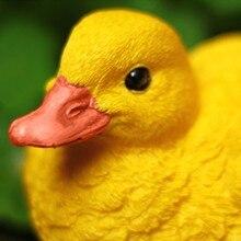 Set of 2 Artificial Resin Yellow Ducks for Garden Pool