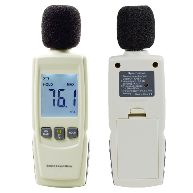 2015 Professional Sound Level Meter Digital Noise Tester LCD Screen Audio Vioce Describe Meter Decibel Monitor Pressure Tester