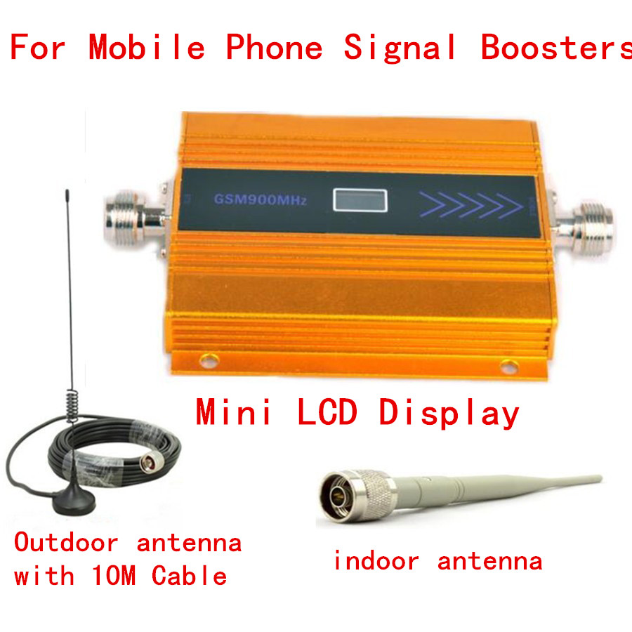2017 NEW LCD GSM 900Mhz Mobile Phone Signal Booster , GSM Signal Repeater / Booster, Power Charger With Cable + Antenna 1 SET