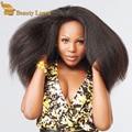 Mongol Kinky Em Linha Reta 4 pcs tecer cabelo virgem agrupa ofertas 8 a 28 polegadas extensões de Cabelo Humano de 100 por cento mini grosso yaki