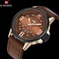 Naviforce original marca de luxo analógico quartz watch men moda casual sports relógios de pulso de couro à prova d' água relogio masculino