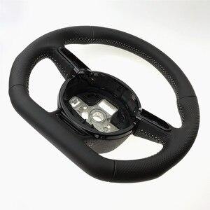 Image 2 - NoEnName_Null dla Audi A3 A4 A5 A6 A7 Q3 Q5 Q7 w pełni perforowana kierownica płaska podeszwa kierownica kampania
