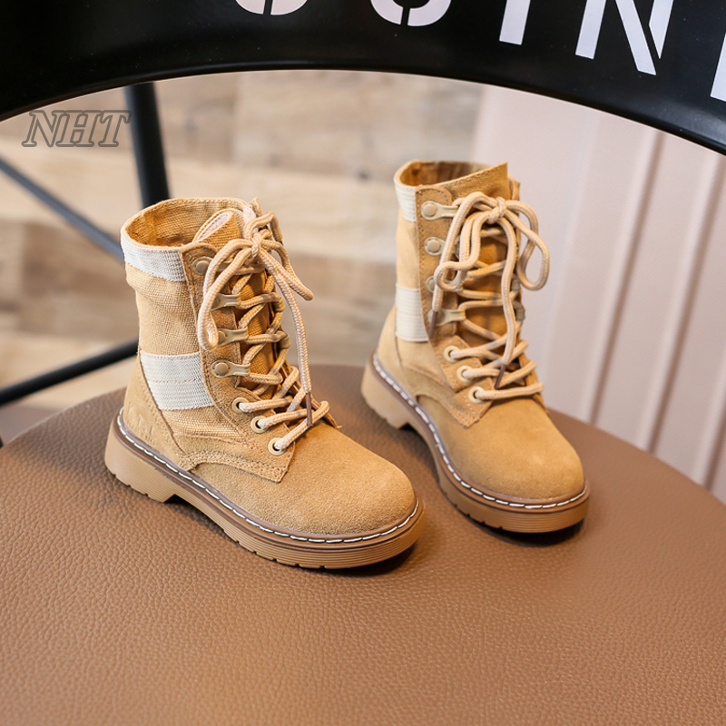 f801a63f0 2017 botas militares para niños elástico silueta calzado transpirable niño  y tamaño grande los niños 21 ~ 37 eur en Botas de Mamá y bebé en  AliExpress.com ...