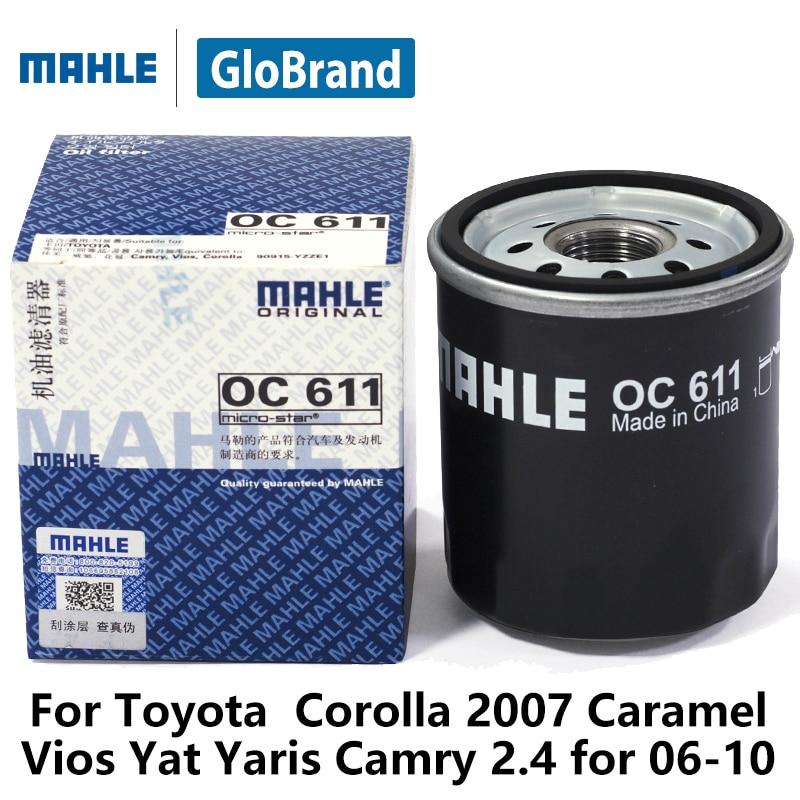 mahle car oil filter oc611 for toyota corolla 2007 caramel. Black Bedroom Furniture Sets. Home Design Ideas