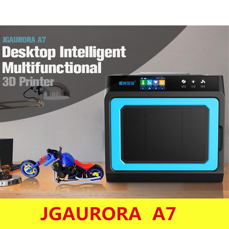 JGAURORA A7 3D Imprimante De Bureau Intelligent Multi-fonctionnelle Intelligente 3D impression Haute Précision HD 4.3 pouce Tactile Écran