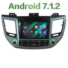 "HD 8 ""Android 7.1 Quad Core 2 GB RAM 4G WiFi multimedia car dvd Radios estéreo GPS pantalla para Hyundai ix35 Tucson 2015-2014"
