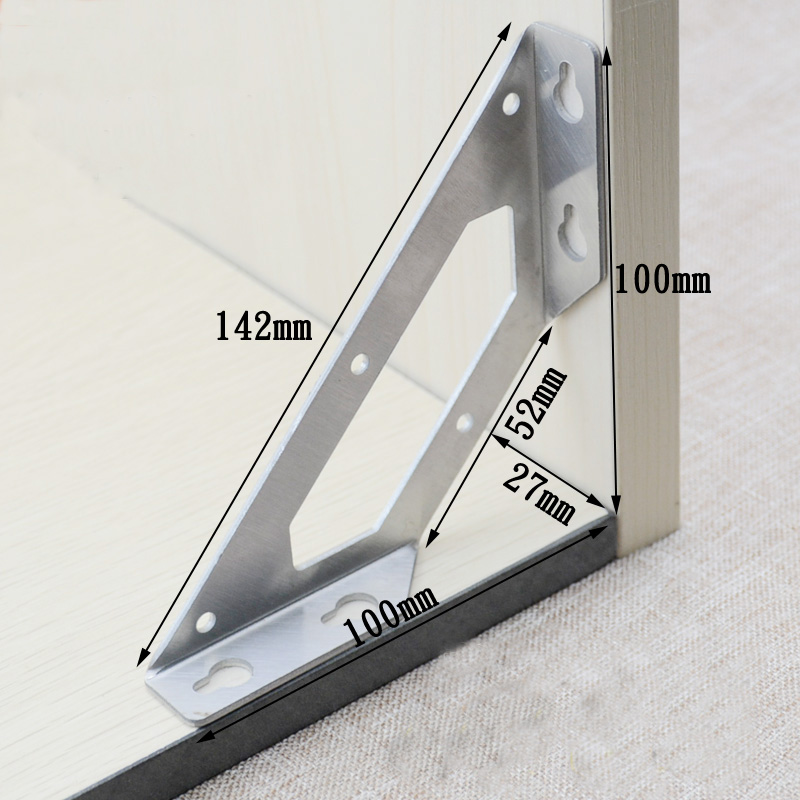 2pcs Stainless Steel L Type Angle Code 90 Degrees Right Angle Thickening Fixed Plank Joint Tripod