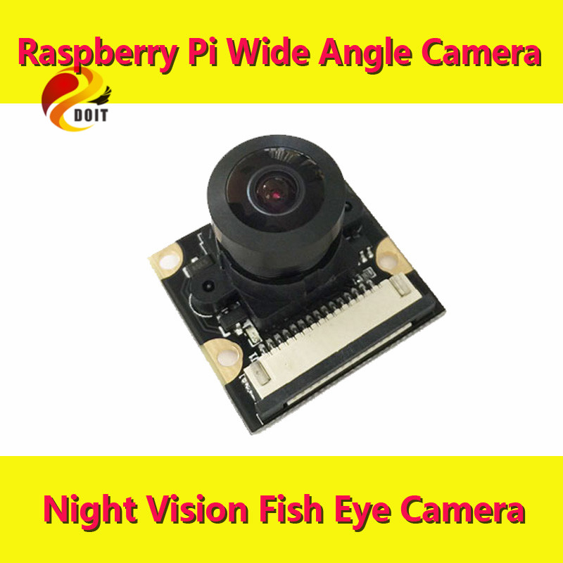 DOIT Raspberry Pie Wide Angle Camera Monitoring Micro Infrared Night Vision Webcam Module Pi Rpi Pcduino Beaglebone ...