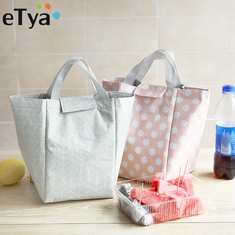 eTya Hot Sales! Women Tote Insulated Lunch Bag Large Capacity Thermal Food Picnic Lunch Bags for Kid Men Storage Food Handbag