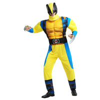 Halloween Party Cosplay Avengers Costume Super Hero Muscle Performance Clothing with Mask for Adults