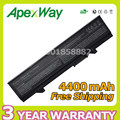 Apexway 6 Cell 4400mAh  Laptop Battery for Dell Latitude E5400 E5500 E5410 E5510 PW651 U116D W071D RM649 RM656 RM661 RM668 T749D