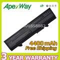 Apexway 6 células 4400 mah bateria do portátil para dell latitude e5400 PW651 U116D W071D E5500 E5410 E5510 RM649 RM656 RM661 RM668 T749D