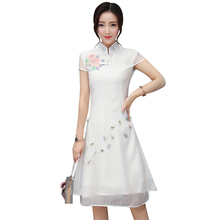 2018 new vintage qipao dress cheongsam oriental dress chinese traditional clothing for women