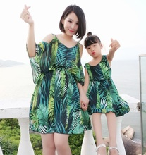 все цены на Chiffon mother daughter dresses mommy and me clothes family look mom mum and daughter matching outfits clothes dress clothing онлайн