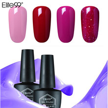 Elite99 10ML UV LED Lamp Gel Nail Polish Pure Colors Semi Permanent Gel Base Top Needed Red Dark Color Gel Varnishes