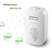 801 White Home and Office Mini Air Purifier Portable Negative Ion Generator Air Cleaner, Home sterilizer 110V/220V ionizer