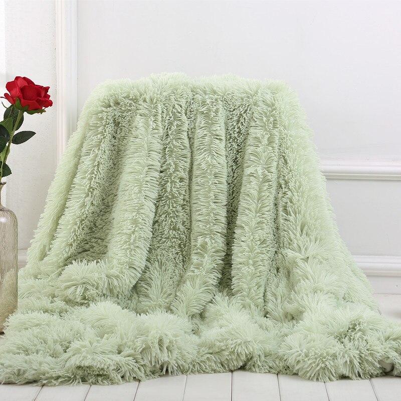 Hoge Kwaliteit Bed Sofa Gooi Deken Multi-color Super Zachte Lange Shaggy Warm Beddengoed Vel Kerst Nieuwe Jaar Cadeau Sprei