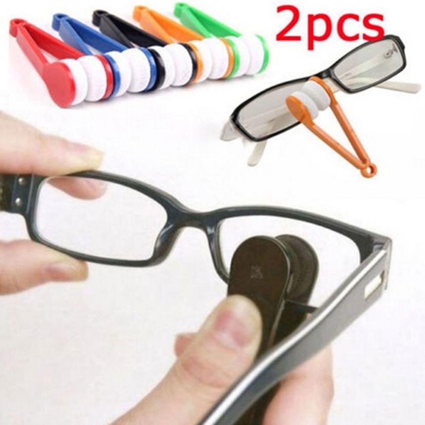 US $1.83 22% di SCONTO Occhiali Occhiali Da Sole Occhiali Da Vista Occhiali Cleaner Spazzola di Pulizia del Tergicristallo Pulire Kit 630 Levert